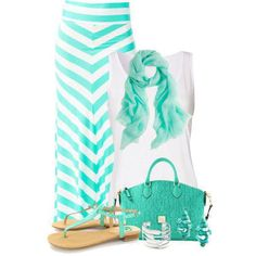 Teal and white.