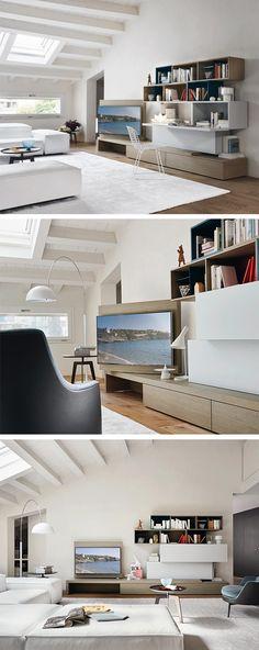 Livitalia Wohnwand C18 Pinterest TVs