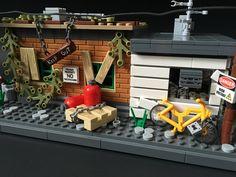 Shady business.   by brickprincess Lego Pictures, Lego Moc, Lego Building, Legos, Apocalypse, Awesome, Cartoons, Isometric Art, Houses