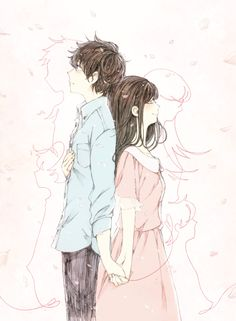 Image discovered by h e r . Find images and videos about anime girl and anime boy on We Heart It - the app to get lost in what you love. Cute Couple Drawings, Cute Couple Art, Anime Couples Drawings, Anime Couples Manga, Anime Amor, Anime Cupples, Kawaii Anime, Anime Guys, Romantic Anime Couples