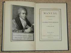 G. Bodoni: Manuál typografický