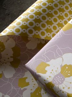 Pretty pretty paper.  Expensive gift wrap, but it would be cheap art popped into a frame.  smockpaper.com
