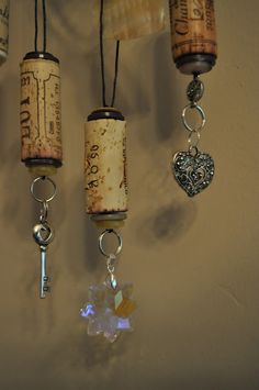 Lavender Clouds: Wine Cork Ornaments