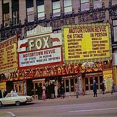 Detroit's Fox Theatre marquee — The Motortown Revue 1966