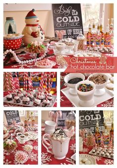 Hot Chocolate Bar collage this is such a cute idea, never hear of it here in the uk. Isnt America GREAT!