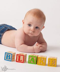 6 Month Old - Baby Boy Blake Photo Shoot - Wendy Binns Photography