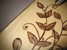 Wood Burned Florishes