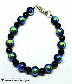 Peacock Beaded Bracelet by BlindedEyeDesigns on Etsy