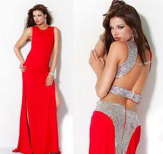 Платье красное открытая спина