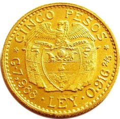 Colombia Coin - 5 Peso (Tenerani). Newly added on Colnect. @ http://colnect.com/aff/da_1/coins