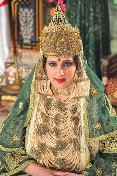 The traditional costume of Tlemcen is an Algerian dress composed of several layers of clothes and accessories linked to different Mediterranean civilizations. It is called Chedda.