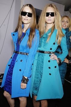 Pretty Blue Burberry Coats