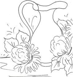 Como Pintar Em Tecido | Como pintar jarro de cobre e crisântemos