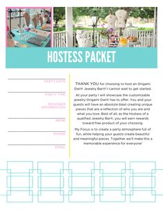 Origami Owl Hostess Packet Booking Letter. Message me for PDF version!! :)  #origamiowl