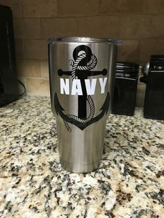 Navy Decal/US Navy Decal/Yeti Decal/Ozark by CrazyDaisyBoutique1