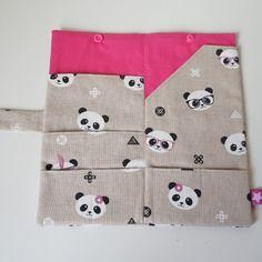 Pochette de voyage / porte passeports  motif panda /2p - commande aurélie