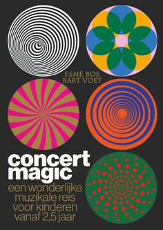 """concert magic"" by tom hautekiet / belgium, 2019 / offset Retro Graphic Design, Graphic Design Trends, Graphic Design Posters, Graphic Design Typography, Graphic Design Inspiration, Graphic Art, Web Design, Layout Design, Design Art"