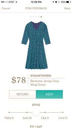 41 Hawthorn Renesme Jersey Faux Wrap Dress