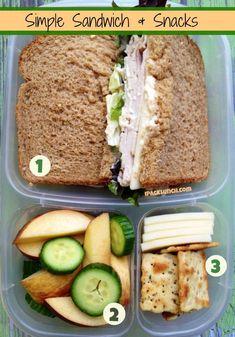 Packing a fast healthy lunch in @Kelly Teske Goldsworthy Teske Goldsworthy Lester / EasyLunchboxes is as easy as 1,2,3