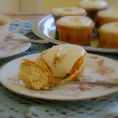 Cooking for My Peace of Mind: Chamomile Cupcakes with Honey Frosting