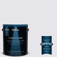 BEHR MARQUEE 1-gal. #PPU16-6 Lilac Mist Satin Enamel Exterior Paint