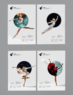 poster design - ballet - Nice combination between geometry shape and photo: