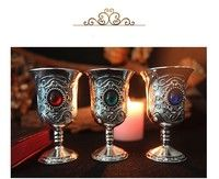 This item is for one chalice. Color: red, green, blue Material: tin Size: 7*4*4cm SKU: 904-693