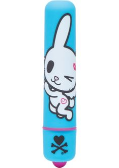 TOKIDOKI SINGLE SPEED MINI BULLET BUNNY - Tokidoki Single Speed Mini Bullet Vibrator Bunny. Skip into a woodland of hidden wonder with this powerful bullet from Tokidoki.One click operation makes play super-simple. Discreetly sized mini vibrator made from polyurethane PU coated ABS plastic. Single powerful vibration speed. Handbag sized for portability. Vibrator is powered by 1 AAA battery, not included. 100% waterproof vibrations...