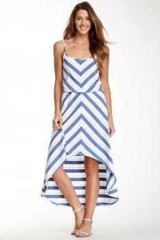 Chevron Print Hi-Lo Dress