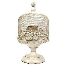 Lavender Herb Terrarium....will also make a pretty cake pedestal with dome.
