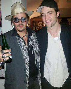 Tumblr New Pic Rob with a Johnny Depp lookalike LA November 19 2016