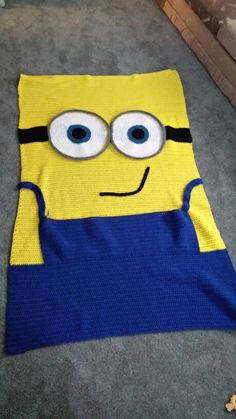 Minion blanket I made for Caiden