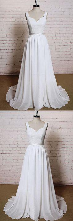 Wedding Dress Chiffon, Wedding Dresses 2018, Wedding Dress A-Line, Appliques Wedding Dress, Backless Wedding Dress #Wedding #Dresses #2018 #Backless #Dress #ALine #Appliques #Chiffon #WeddingDressALine #WeddingDresses2018 #WeddingDressChiffon #BacklessWeddingDress #AppliquesWeddingDress