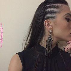 modern side braid hairstyles for women 36 ~ Modern House Design Side Braid Hairstyles, Frontal Hairstyles, Cornrow Hairstyles White, Braids For Medium Length Hair, Side Braids For Long Hair, Short Hair Styles, Natural Hair Styles, Braids Wig, Pinterest Hair