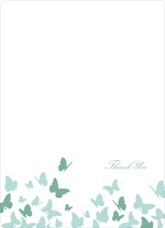 Stationery: 'Butterfly Joy Wedding Shower' cards. by Paper Culture