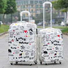 "24"" inches ABS+PC hard shell lovely cartoon suitcase trolley luggage/Pull Rod Travel trunk /traveller case box spinner wheels"