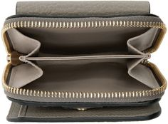 Chloé Grey Leather Square Drew Wallet
