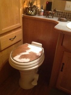 Revamp A Boring Toilet Seat With A Vinyl Decal Seal It In