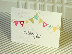 Celebrate You Card by Danielle Flanders for Papertrey Ink (June 2012)