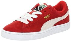 PUMA Suede Junior Sneaker (Little Kid/Big Kid) , High Risk Red/White, 13.5 M US Little Kid -- Want additional info? Click on the image.