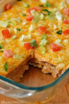 Mexican Tortilla Stack-  I love cheese so I am going to put cheese in between the layers as well.  Iam going to add some black beans for a real boost in the protein and I just love Mexican food with lime so I will add lime zest and juice to the meat mixture. Mexican Tortilla Casserole, Mexican Lasagna With Tortillas, Turkey Enchilada Casserole, Ground Turkey Casserole, Chicken Tortilla Casserole, Tortilla Recipes, Tortilla Soup, Ground Beef Tortilla Recipe, Casserole Recipes