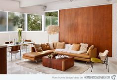 Cozy Mid Century Living Room Furniture Design Ideas 34 - Home Decor Ideas 2020 Mid Century Modern Living Room, Mid Century House, Living Room Modern, Living Room Designs, Modern Wall, Living Room Sectional, Living Room Furniture, Living Room Decor, Living Rooms