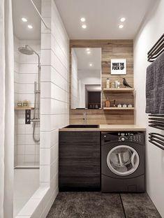 planos low cost: La lavadora en el baño / The washer in the bathroom