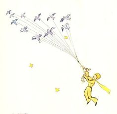 Little Prince Illustration. I believe that for his escape he took advantage of the migration of a flock of wild birds. Chapter 9