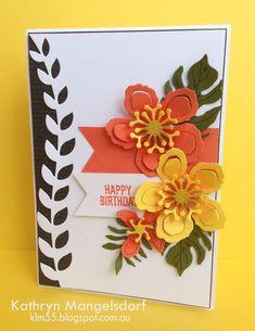 Stampin' Up! Botanical Blooms, Botanical Builder Framelits Dies & Botanical Gardens Designer Series Paper created by Kathryn Mangelsdorf