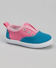 Love this Pink & Blue Slip-On Sneaker by Sugar & Spice by LNY on #zulily! #zulilyfinds