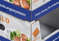 regalo - das innovative Regalverpackungssystem • Hohe Stabilität durch Stapelecken • #Dinkhauser Kartonagen, #Lebensmittelverpackung