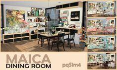 Maica Diningroom by Mary Jiménez at pqSims4 via Sims 4 Updates