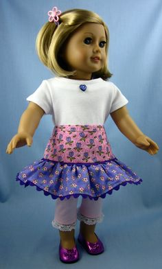 American Girl Doll Clothes  Skirt Tee by SewMyGoodnessShop on Etsy, $20.00