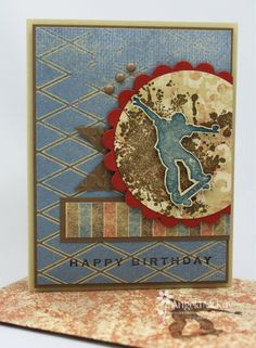 Stampin' Up! SU by Angela McKay, North Shore Stamper.   note for self....Love this idea and mix for the grandsons etc.